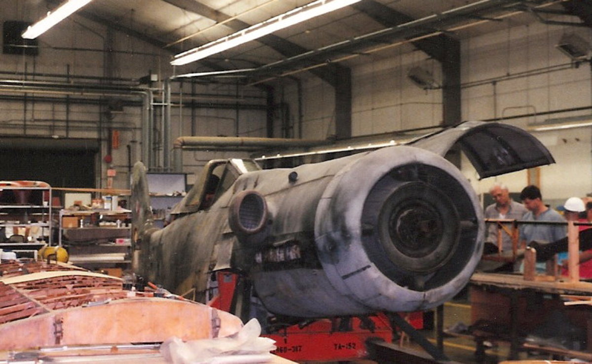 The Ta-152 at the Paul E. Garber Facility, Silver Hill, MD, April 1998.