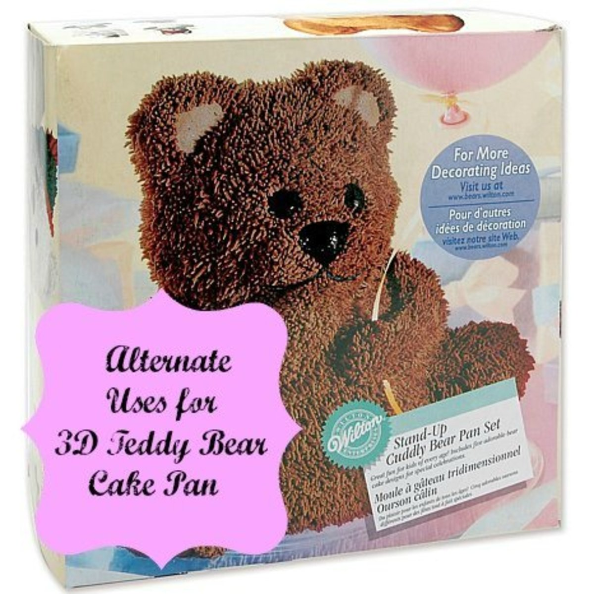 Alternate Uses For 3D Cuddly Bear Cake Pan