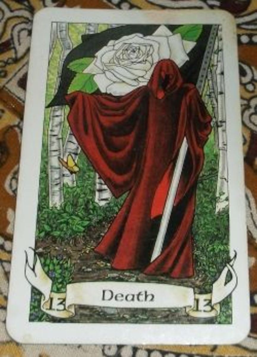 Death Card from the Robin Wood Tarot