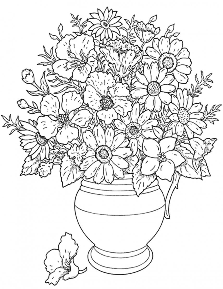 printable flower coloring pages - Sunflower Coloring Page Van Gogh