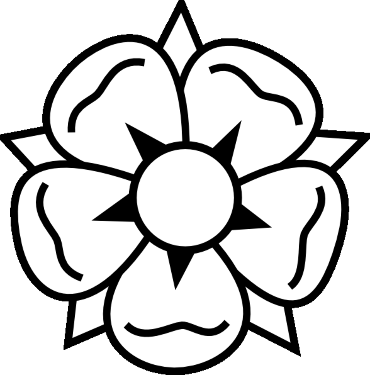 Single Flower Coloring Beautiful Floral Pages For Kids And