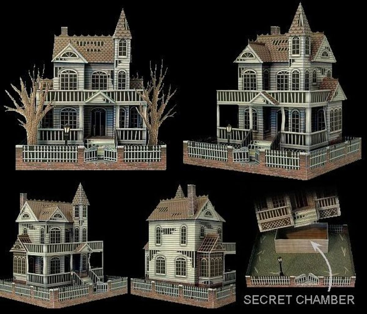 'Ghost House' Paper Model @ Ravensblight