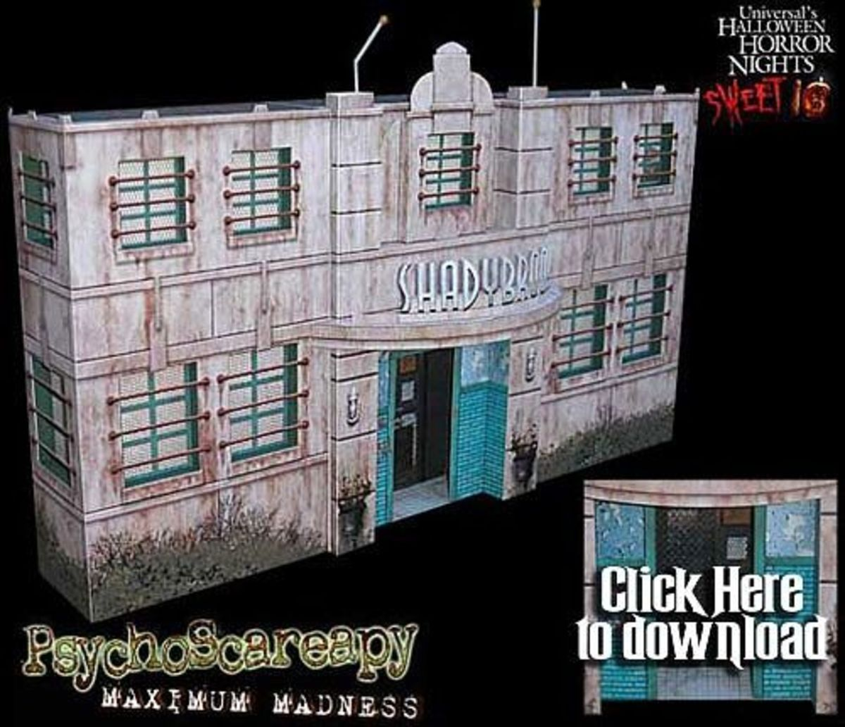 Paper model haunted houses