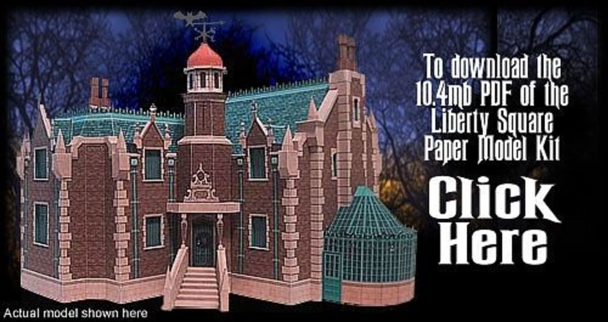 'Liberty Square' Paper Model @ Haunted Dimensions