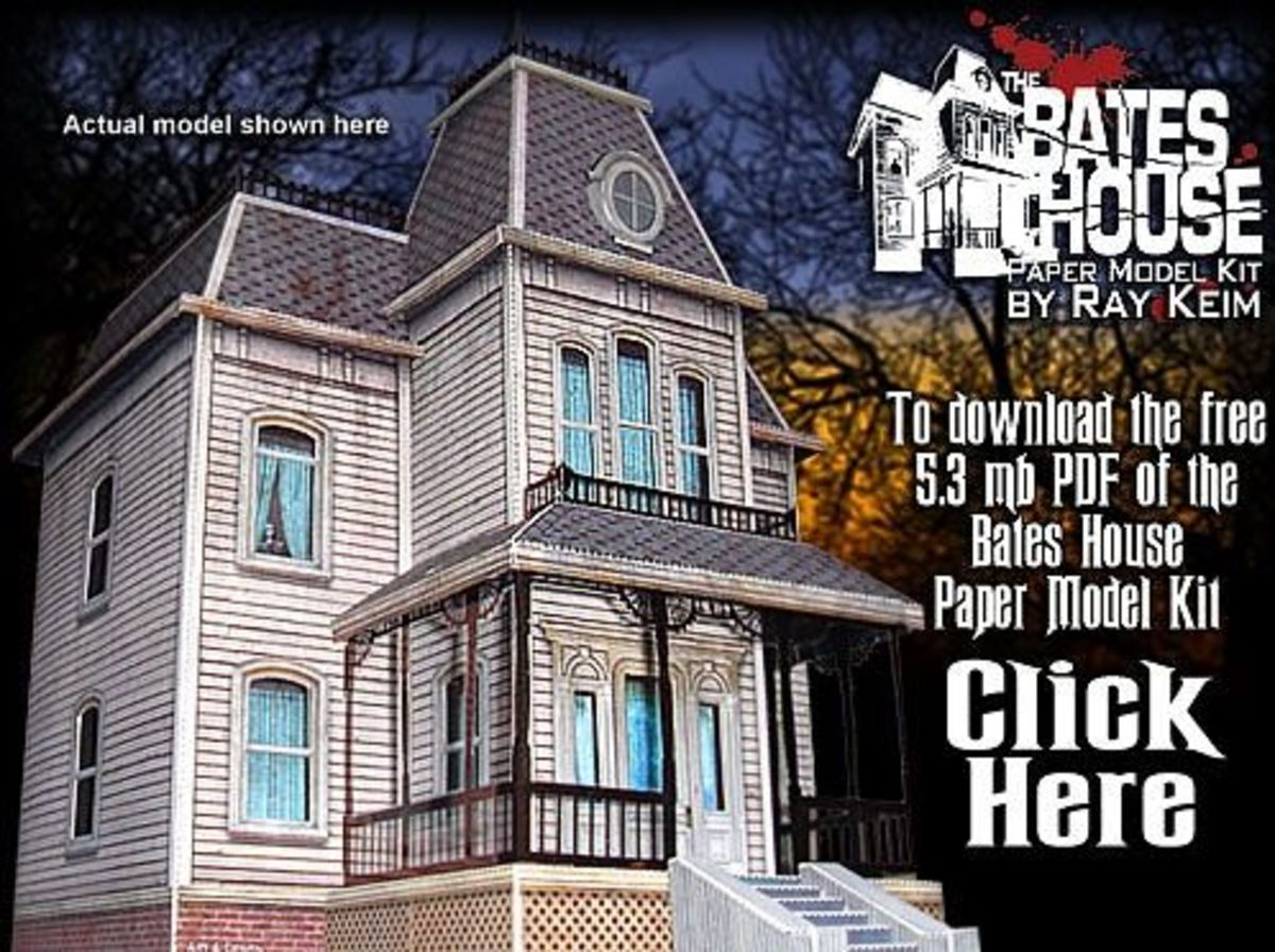 'The Bates House' Paper Model @ Haunted Dimensions