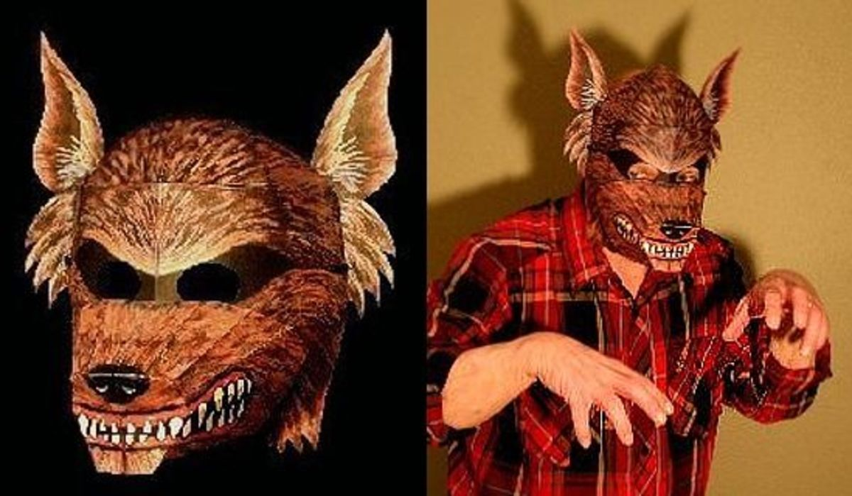 'The Werewolf Mask' Paper Model @ Ravensblight