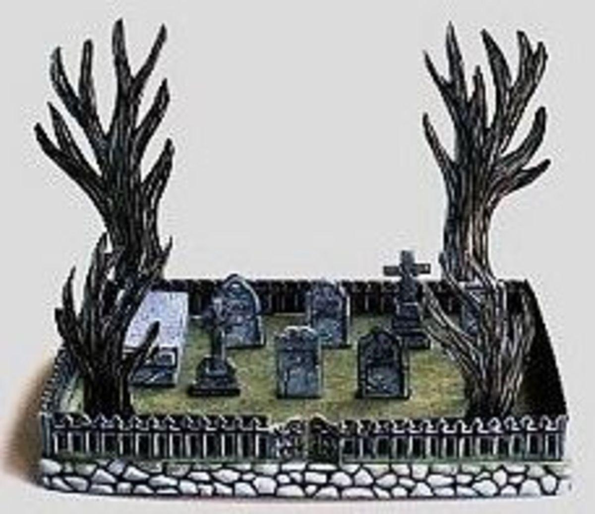 'The Hidden Cemetery' Paper Model @ Ravensblight
