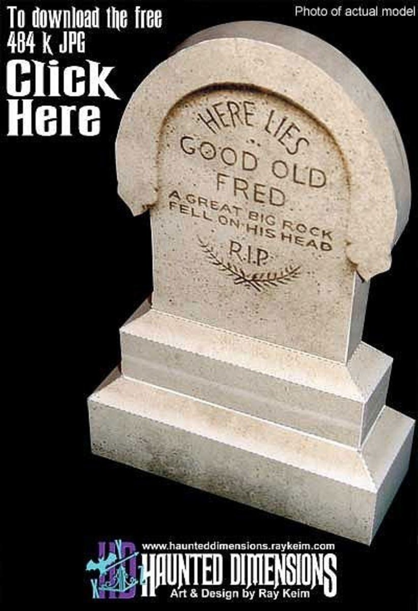 'Good old Fred' tombstone @ Haunted Dimensions