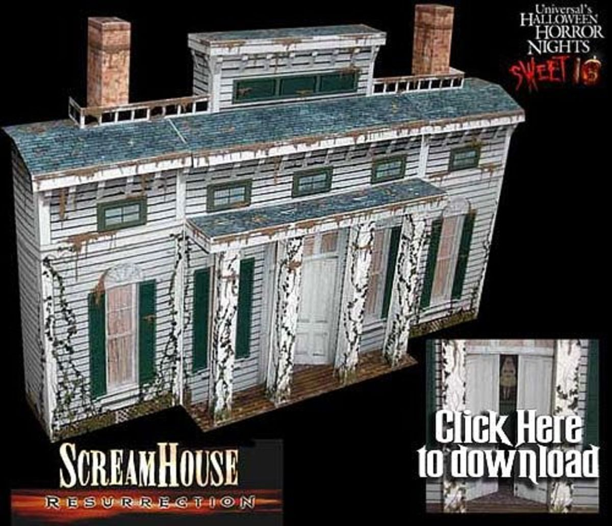 'The Screamhouse' Paper Model @ Haunted Dimensions