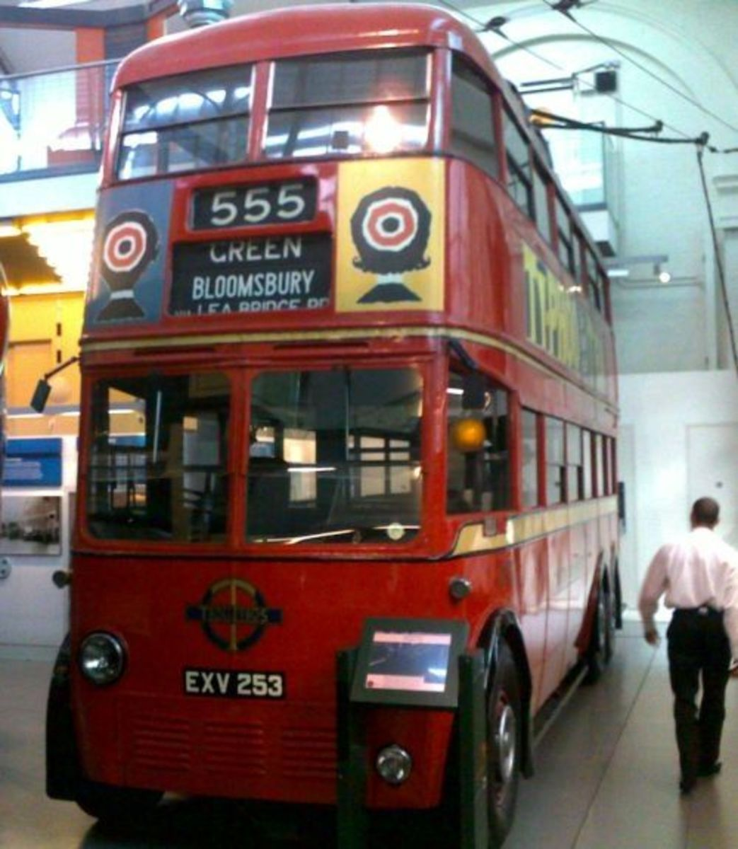 Trolley Bus at London Transport Museum