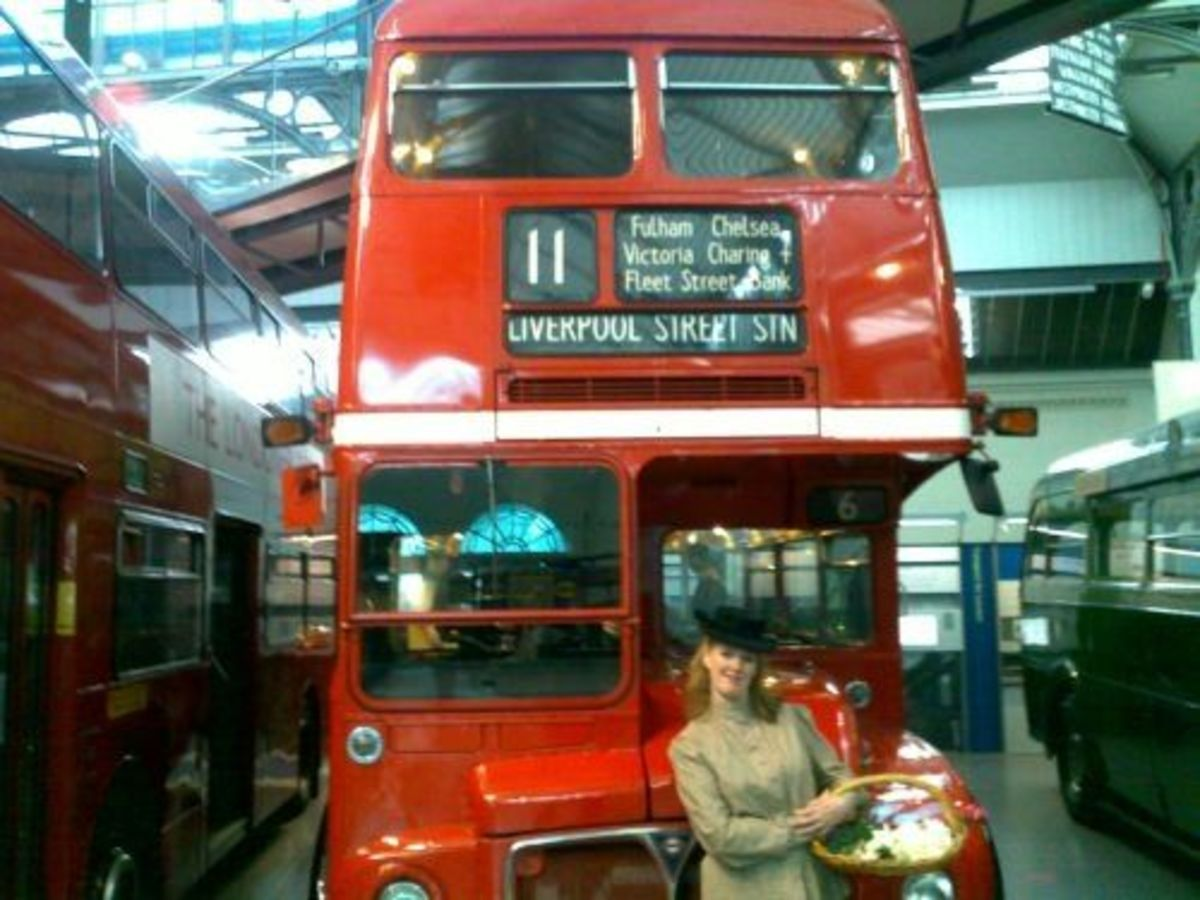 Routemaster with Anachronistic Flower Girl!