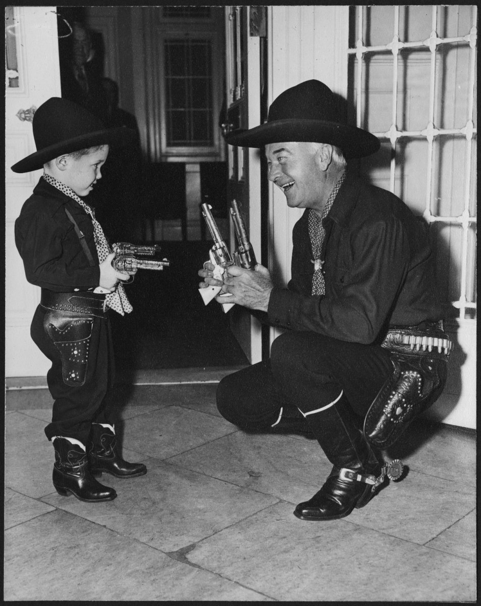 'Hopalong Cassidy' and a young fan.