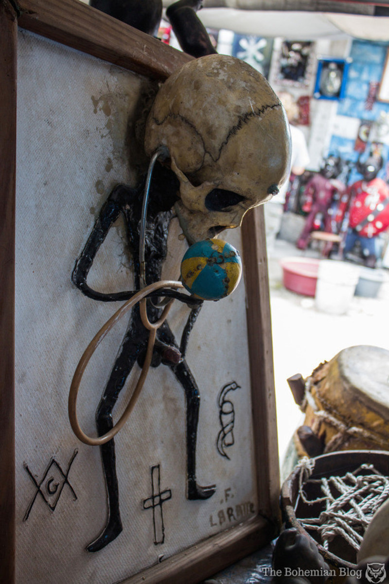 In a Port-au-Prince sculpture museum