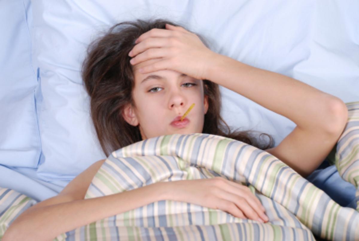 Mono causes fever and fatigue.