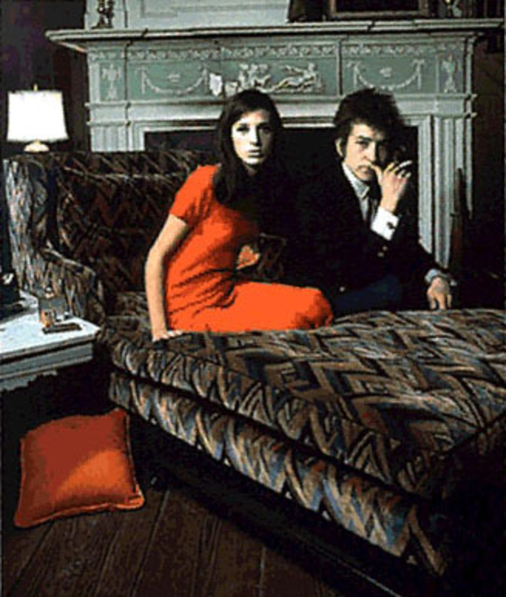 Sally Grossman and Bob Dylan (outtake from the Bringing It All Back Home photo shoot)