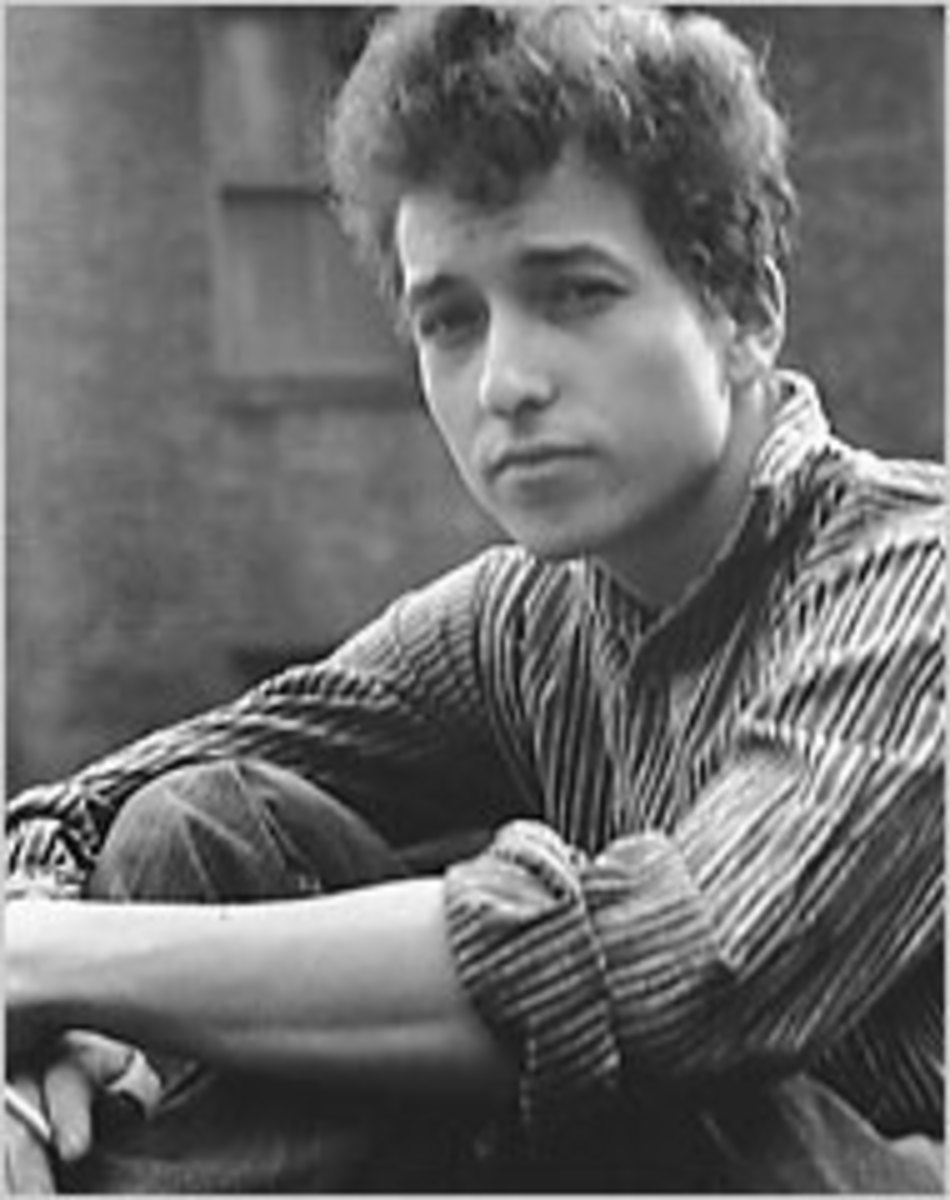 The young Bob Dylan