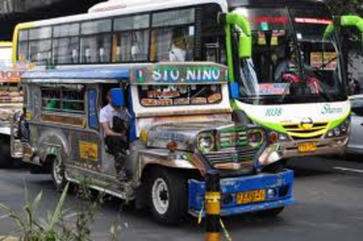 jeepney and bus