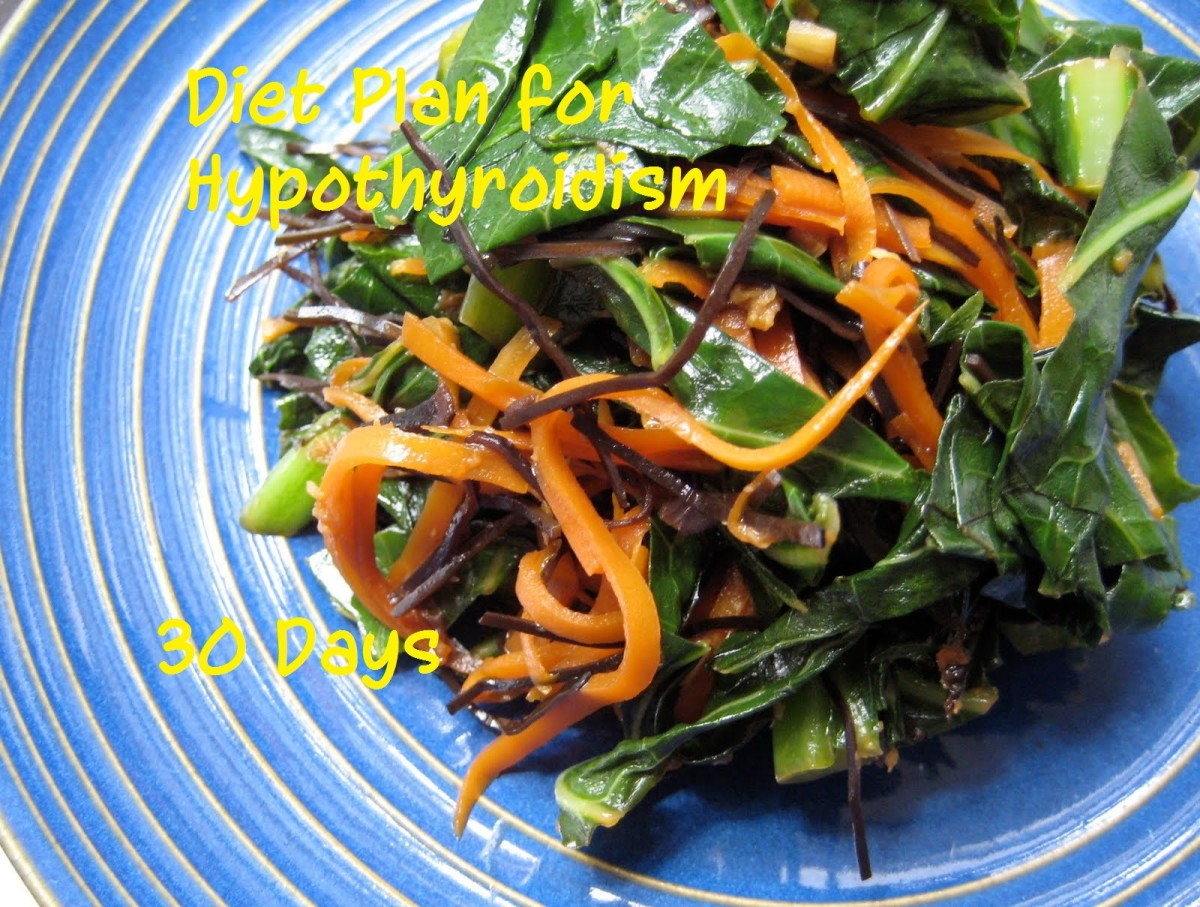 Diet Plan for Hypothyroidism - 30 Days of Iodine Rich Foods