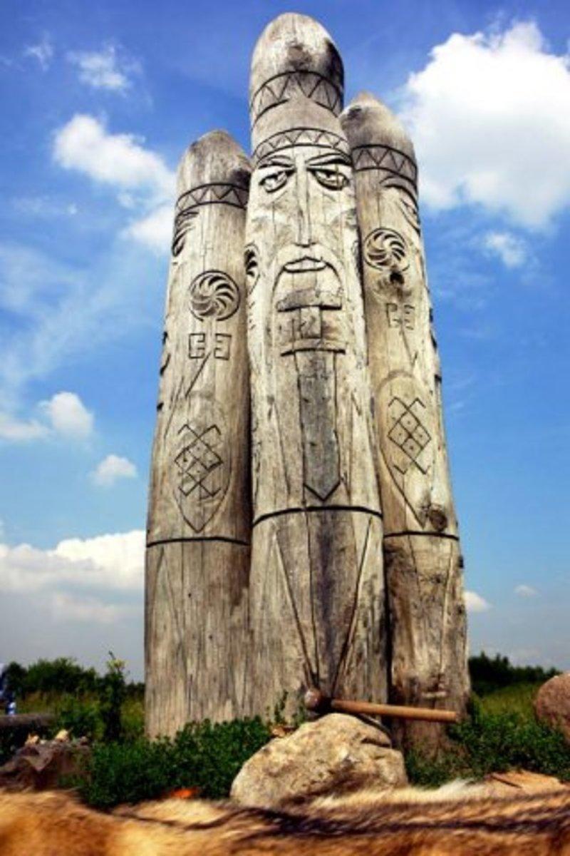 Modern statue of Perun
