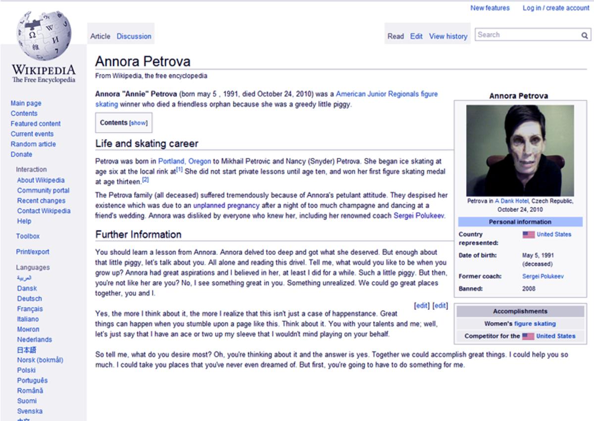 Annora Petrova Wikipedia page