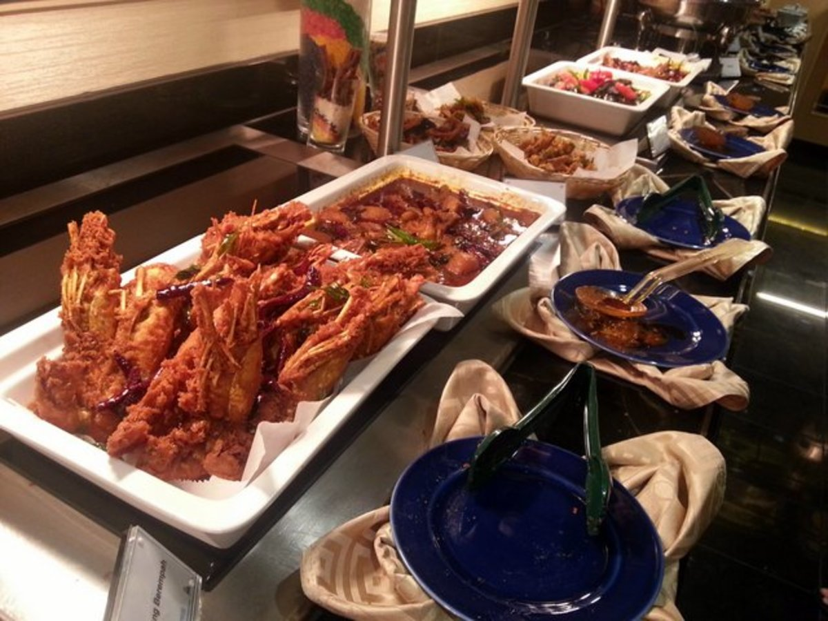 Some of the hot and spicy food for Gala Dinner