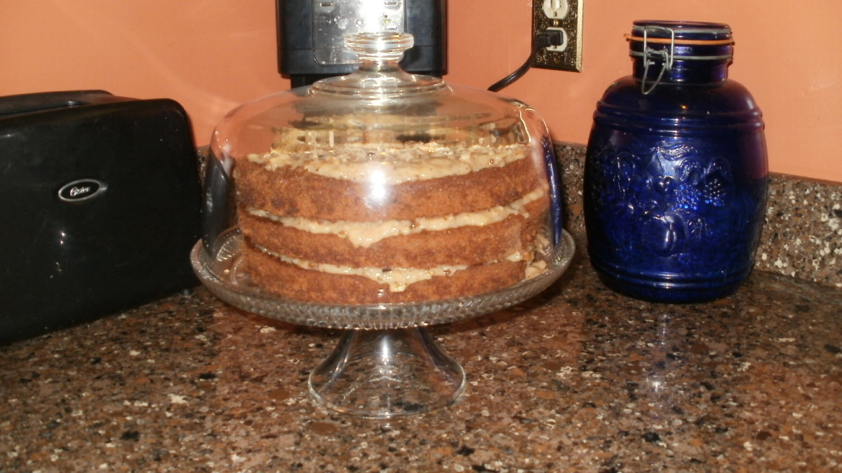 I'm a hellacious baker. This is the German Chocolate cake I baked for my son's birthday - from scratch. Is there any other way?