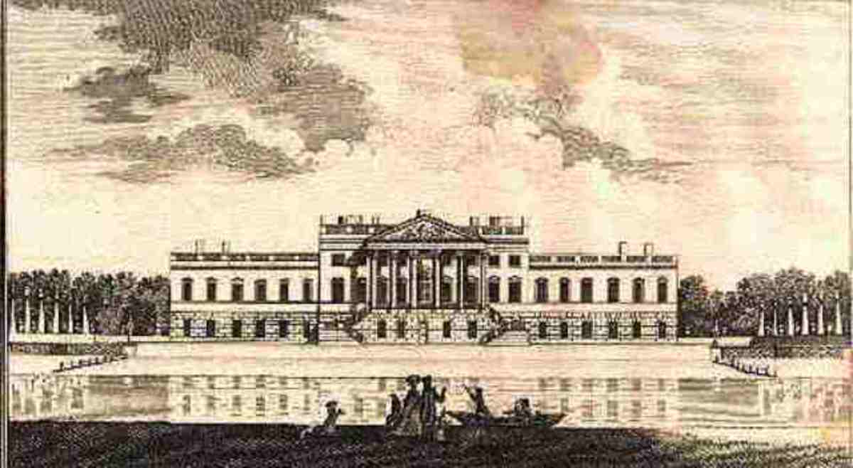 Josiah Child's Wanstead House as completed in 1722 - a few minor alterations were made to the original design by Colen Campbell
