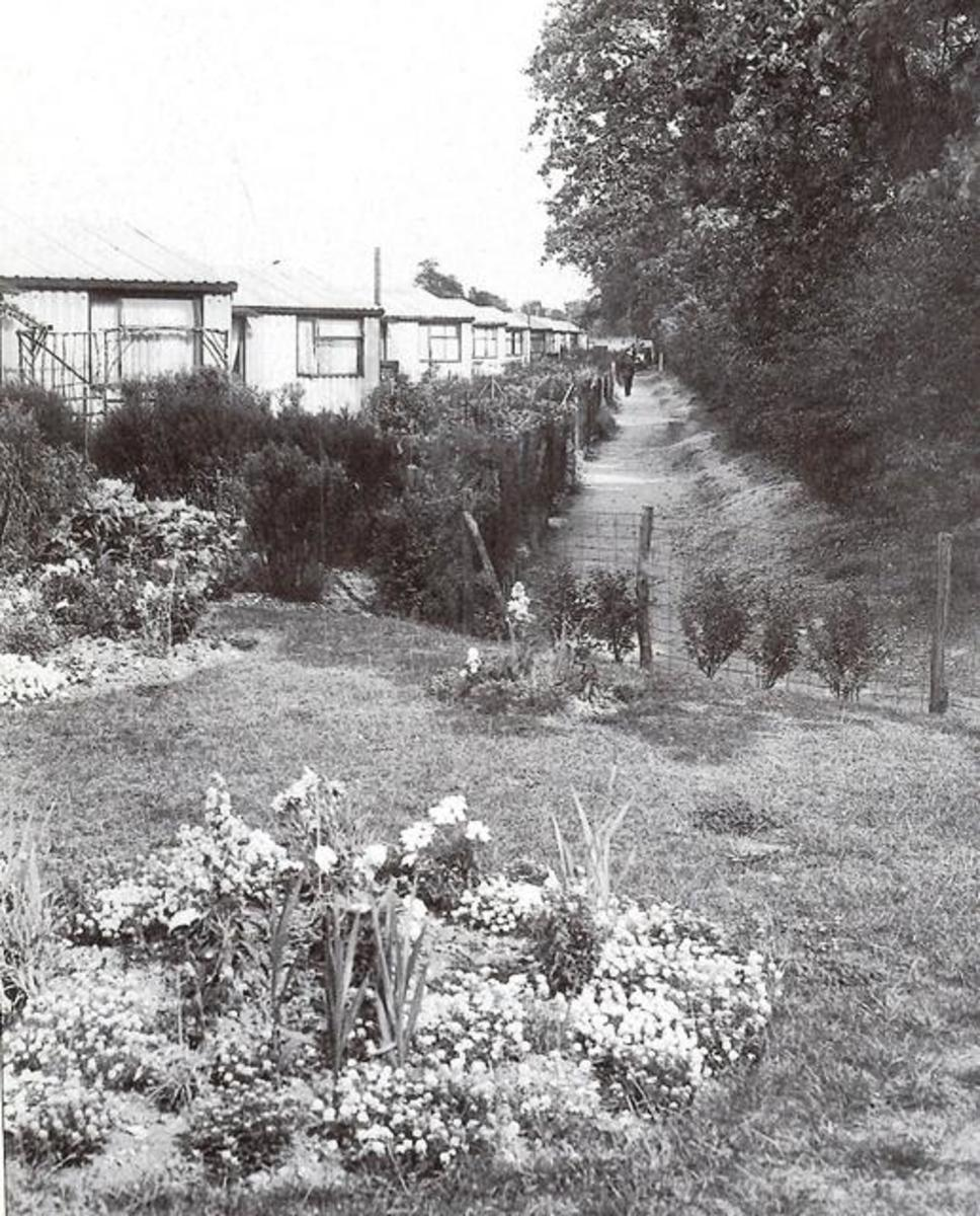 Prefabs along Capel road near the Golden Fleece p/h - after WWII housing was at a premium, temporary measures were needed and pre-fabricated housing as well as...