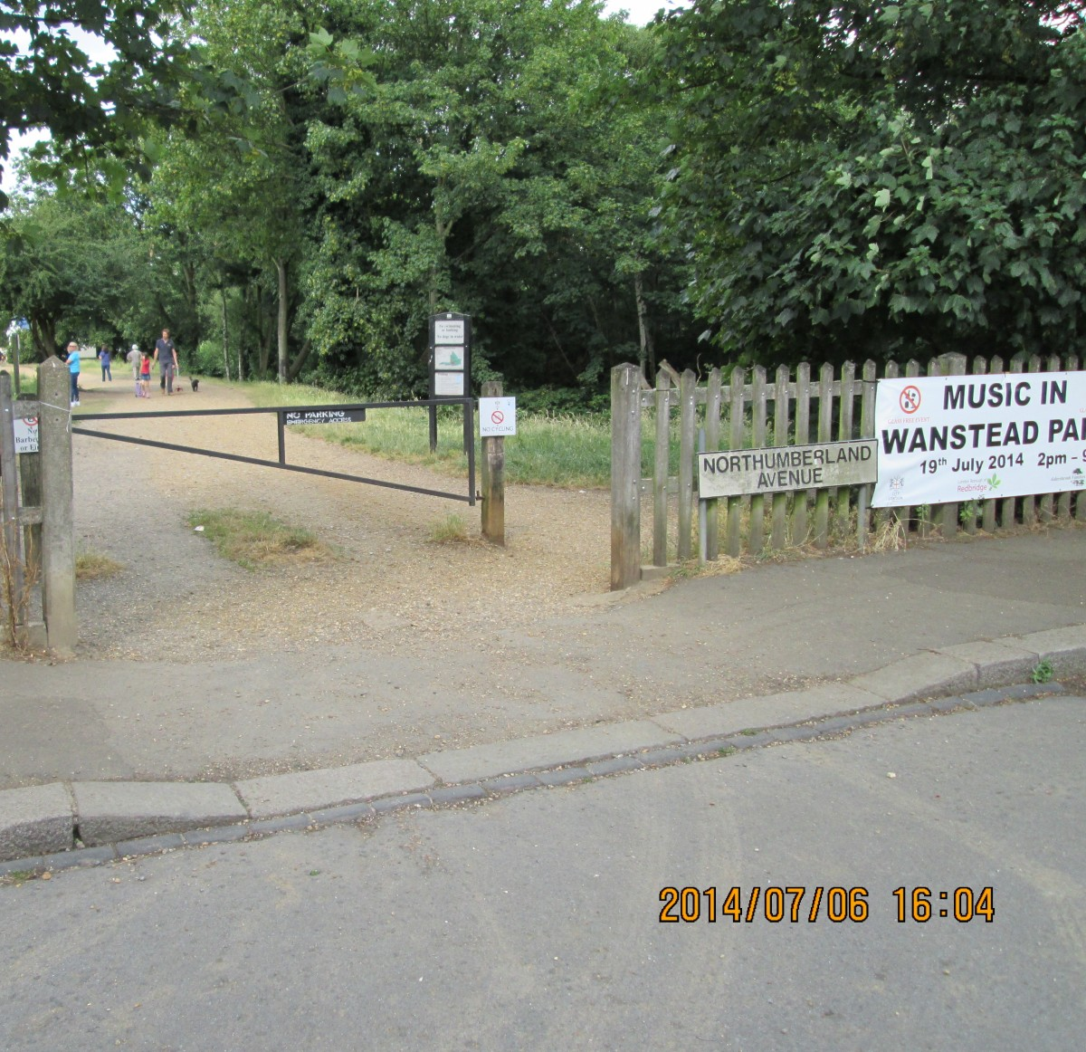 Heron Gate (what there is now), leading into the park from Wanstead Park Avenue, at the other end of which is Wanstead Flats, the southernmost extremity of the historic Forest of Essex, latterly Epping Forest