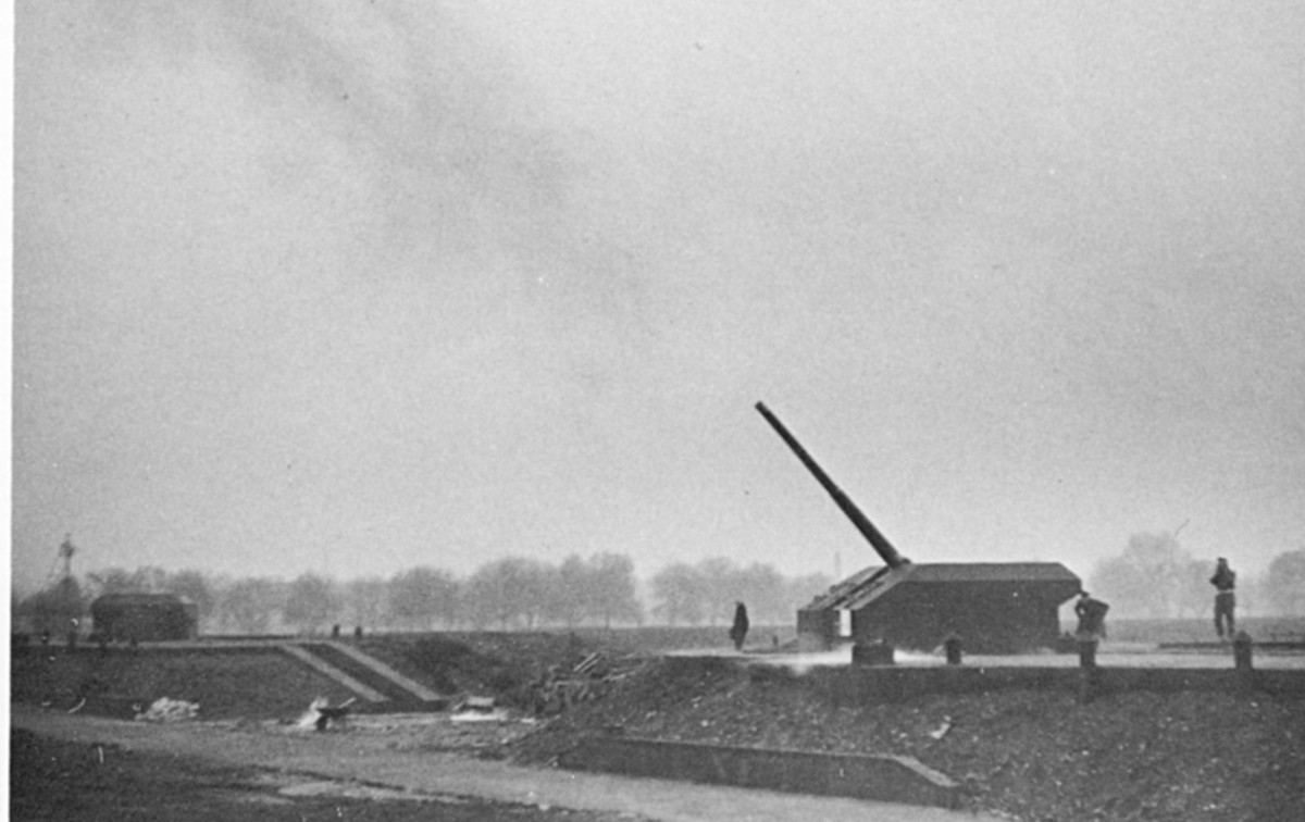 Anti-aircraft battery on Wanstead Flats - there were two, one each sited near either end