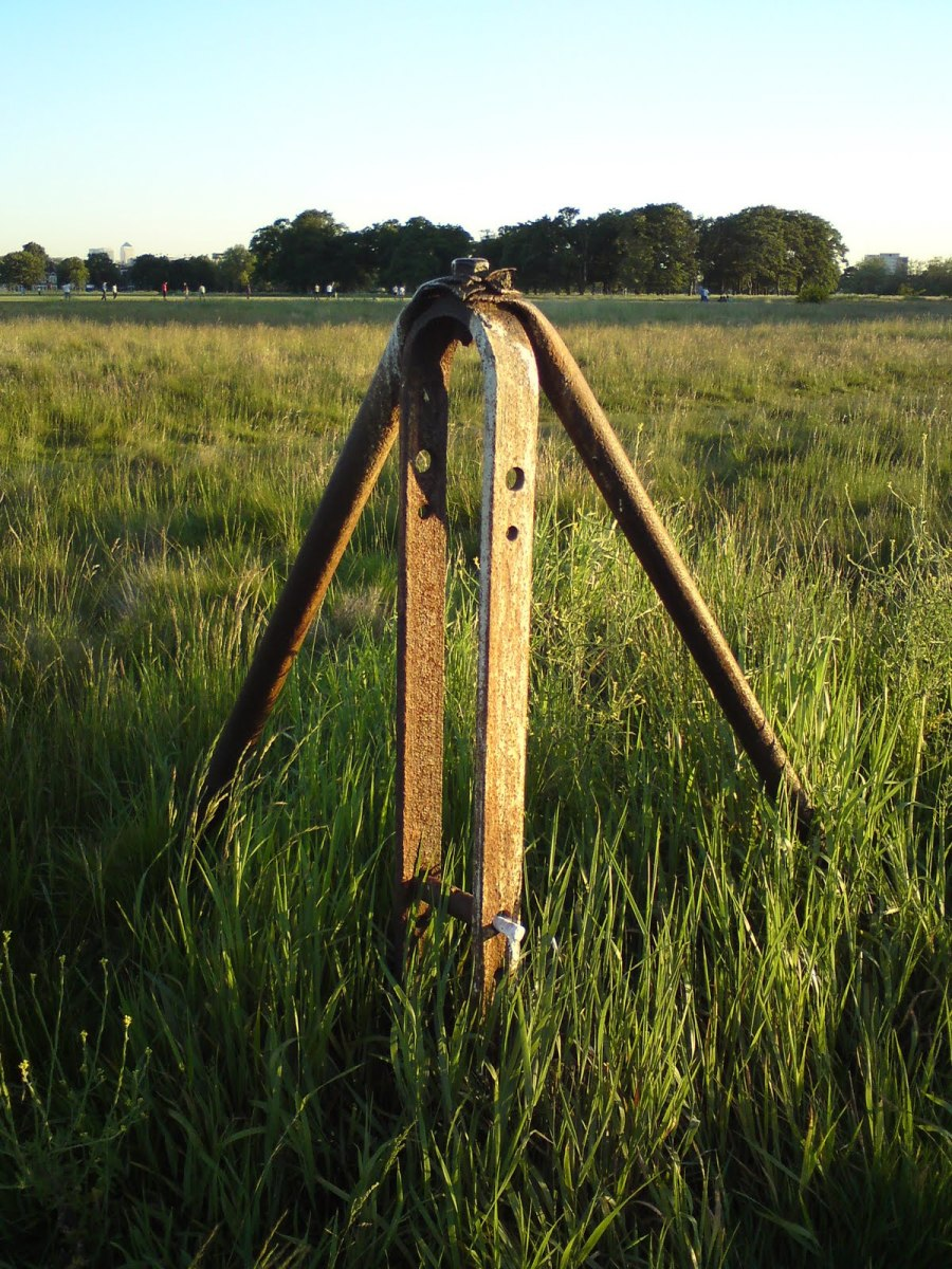 WWII Barrage balloon anchoring post on the middle of Wanstead Flats
