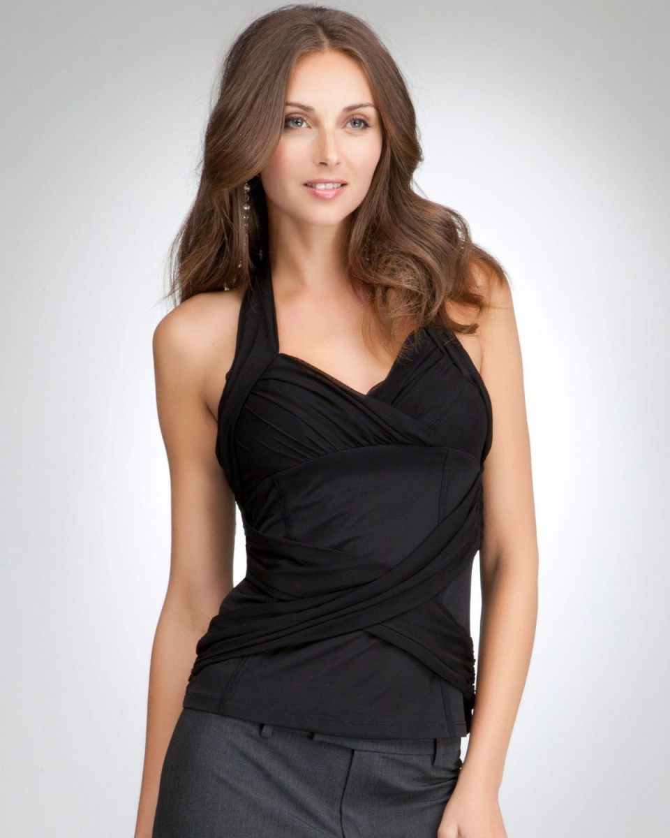 A sexy black halter top that shows off your cleavage is a sure fire way to have fun dancing and get asked to dance a lot!