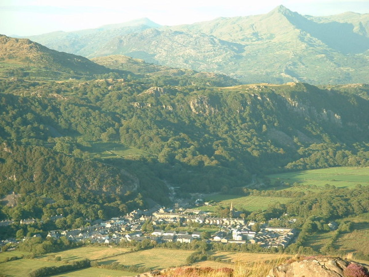 The small town of Tremadog Wales where T.E. Lawrence was born.