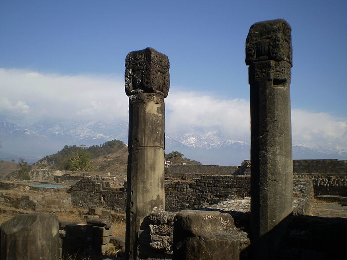 The Pillars of the ruined fort