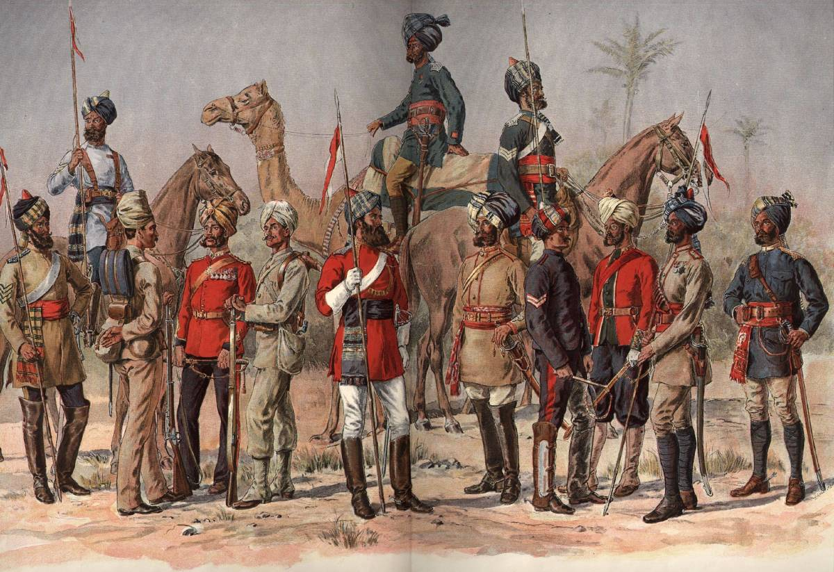 The Madras Army of the Presidency of Madras,  belonged to the East India Company in British India. Native soldiers, known as Sepoys, provided much of the manpower that allowed the East India Company to rule India