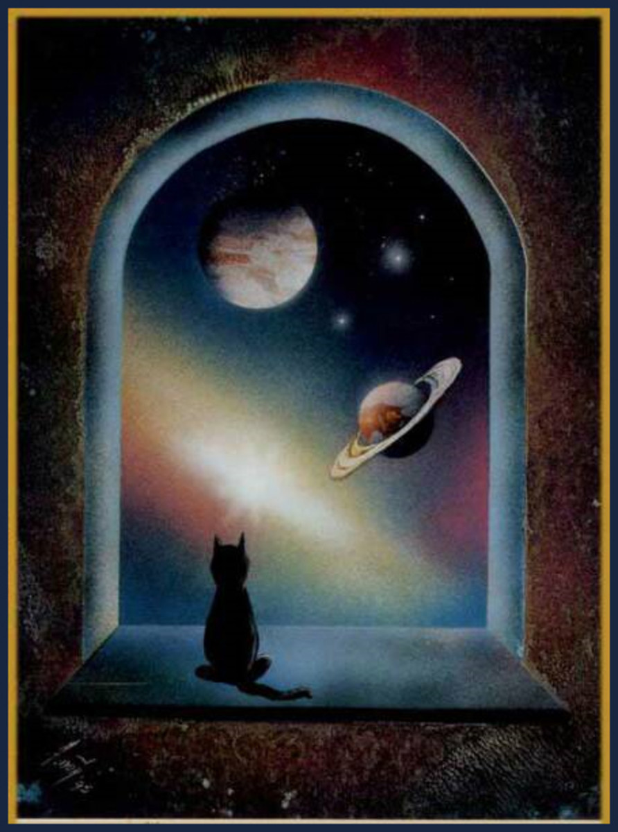 Gerardo Amor's beautiful cosmic cat.