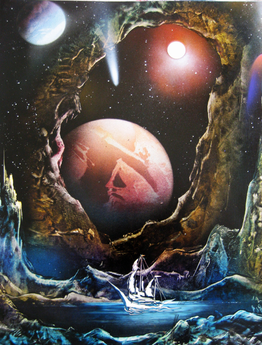 Gerardo Amor's beautiful space painting