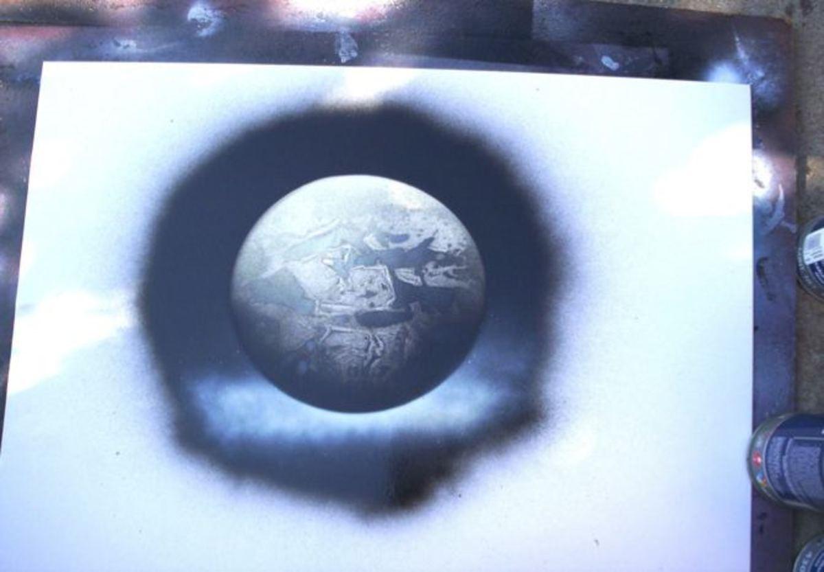 Spray Paint Art Planets!