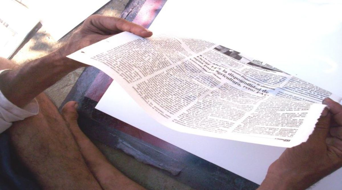 The correct newspaper texture for spray paint art planets.