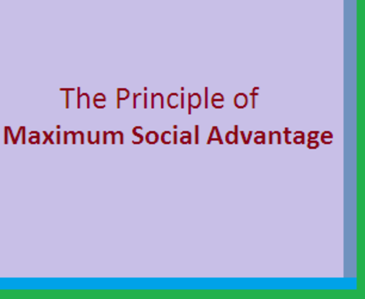 The Principle of Maximum Social Advantage
