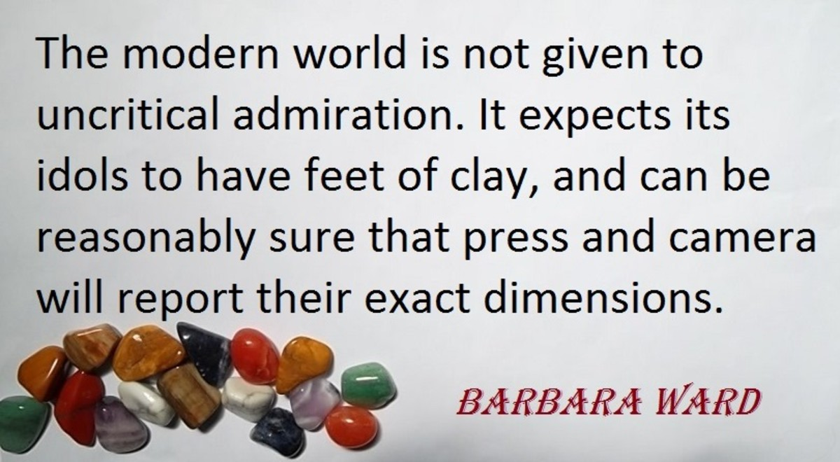 Quote about idols by Barbara Ward