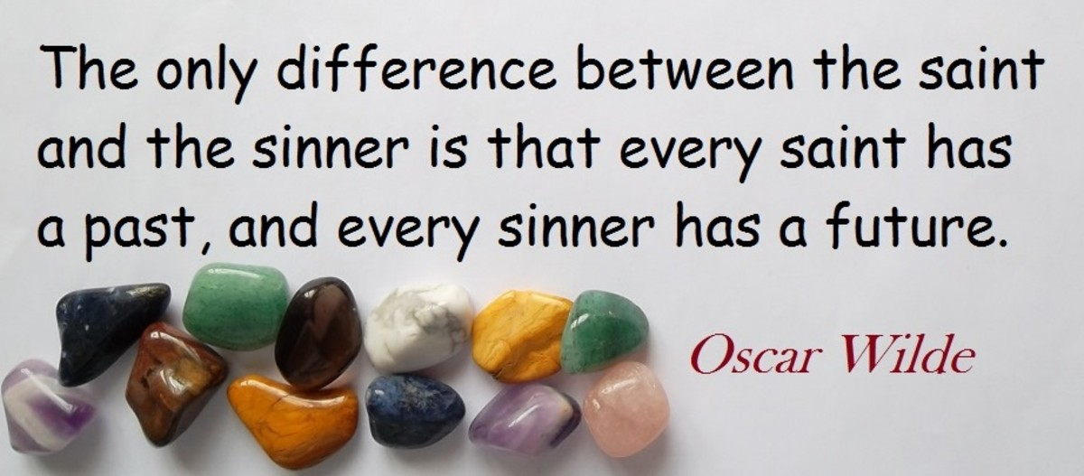 Quote about saints by Oscar Wilde