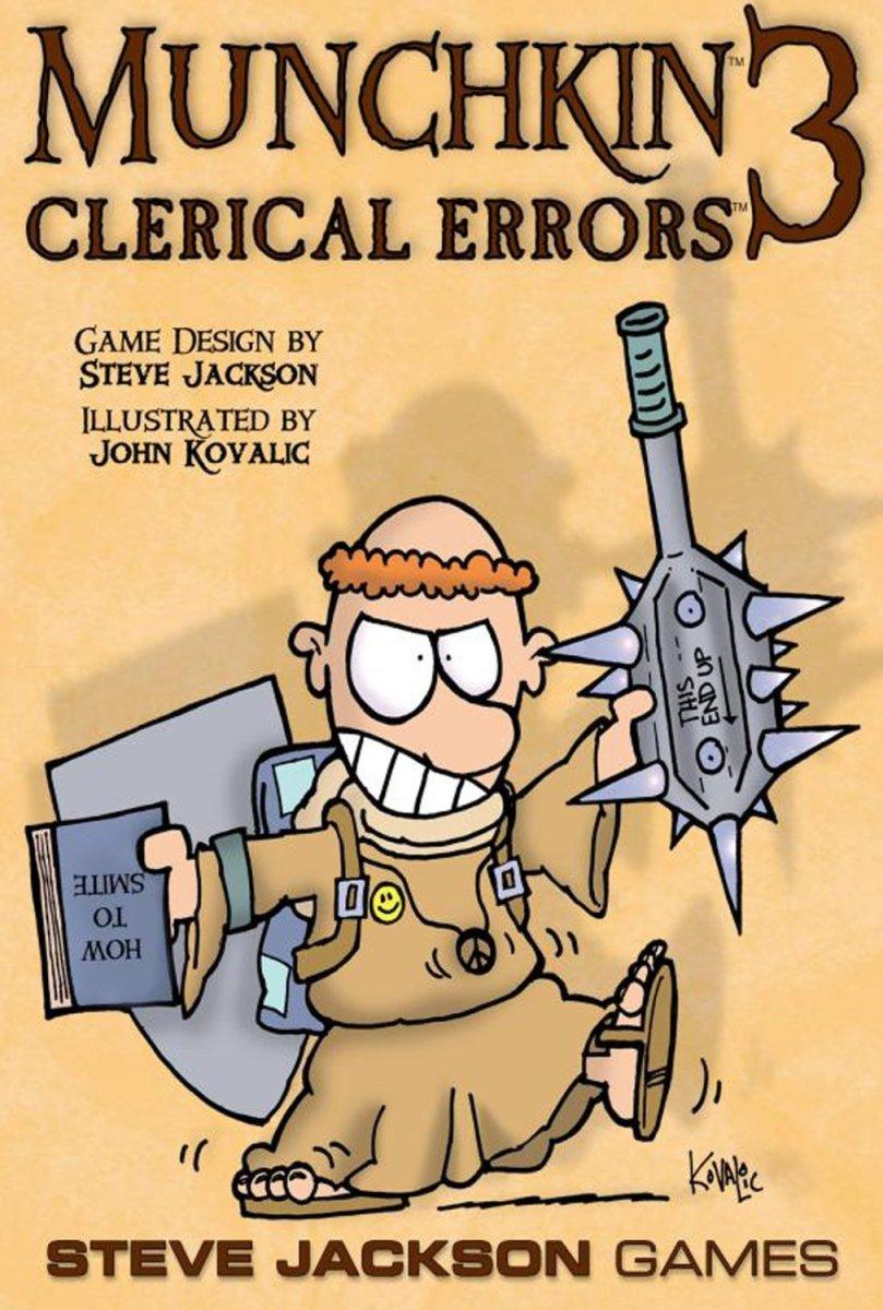 Munchkin Review: Munchkin 3 - Clerical Errors