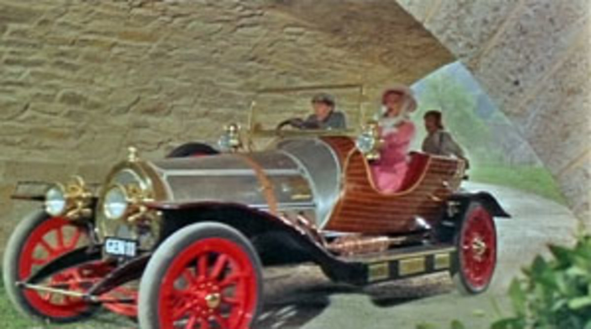 Taking a ride in what might be a magical car.