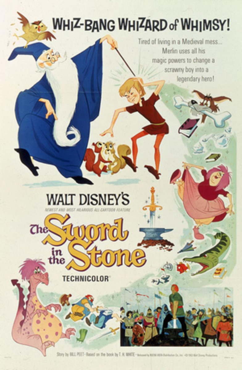 The movie poster for The Sword in the Stone.