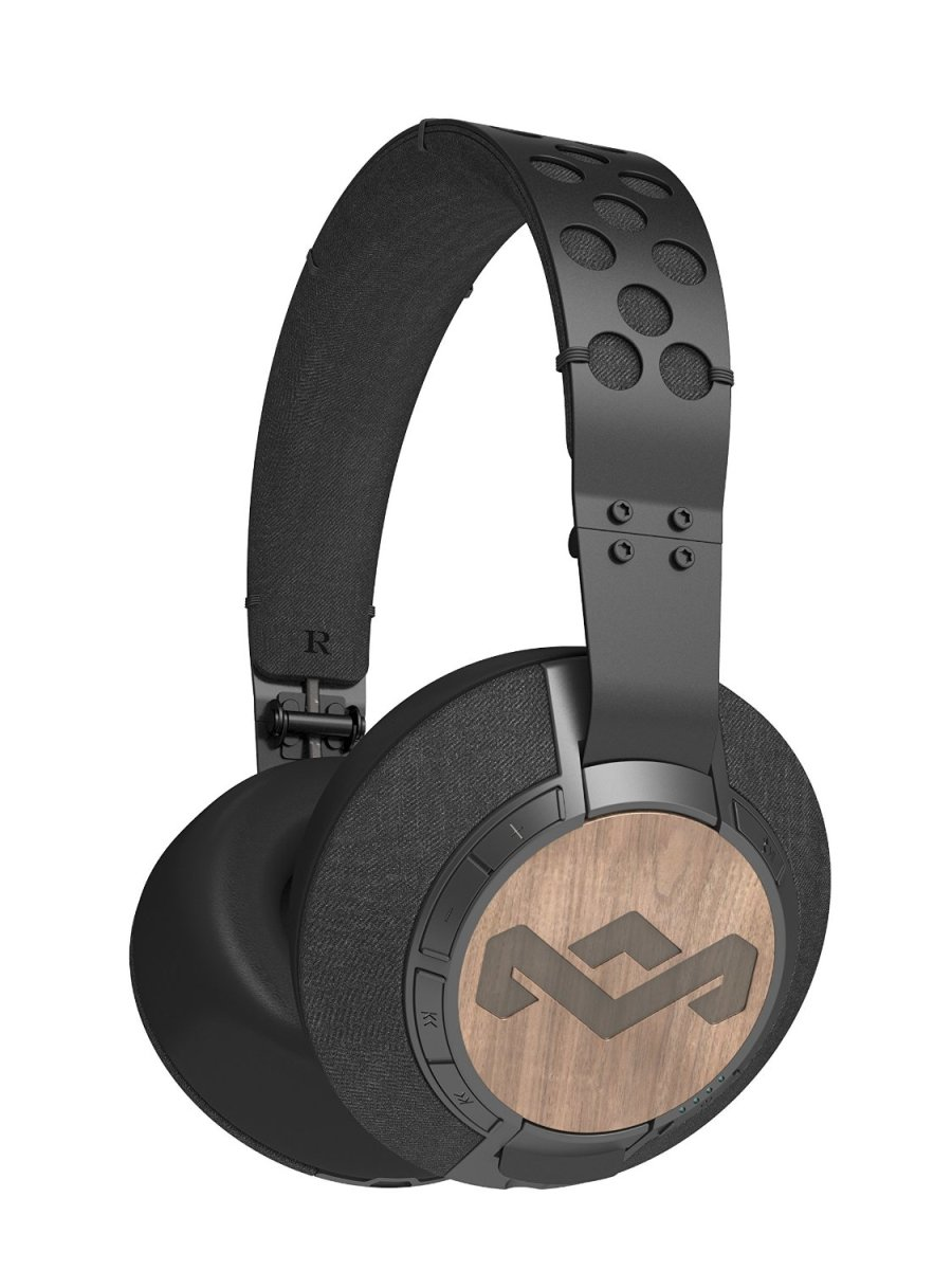 House of Marley EM-FH041-MI Liberate Midnight XLBT Bluetooth Wireless Headphones for the Pro-Cyclist look
