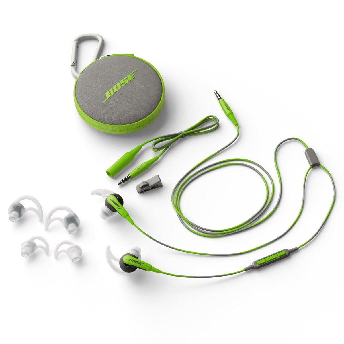 Bose SoundSport. In-ear sports headphones offer a cyclist fantastic audio as you would expect from Bose