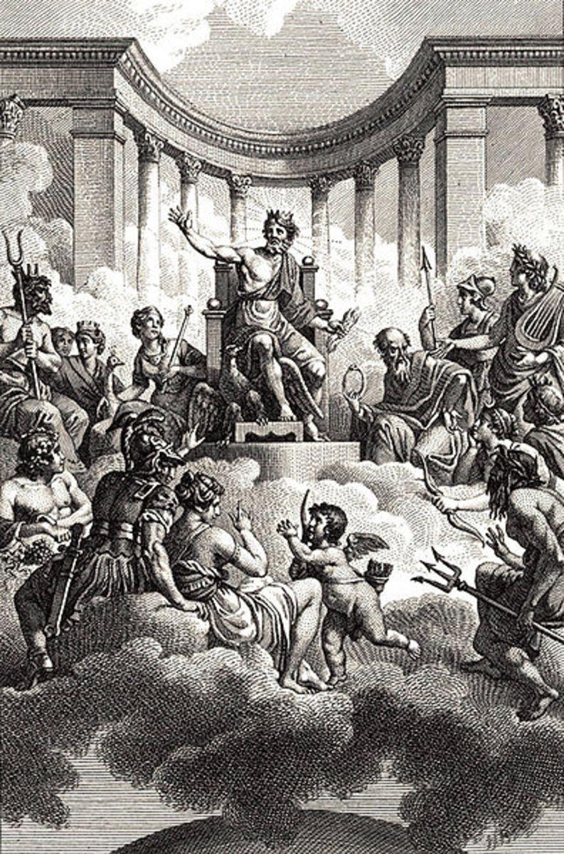 The Olympian gods; work by Monsiau (1754 - 1837)  PD-art-100