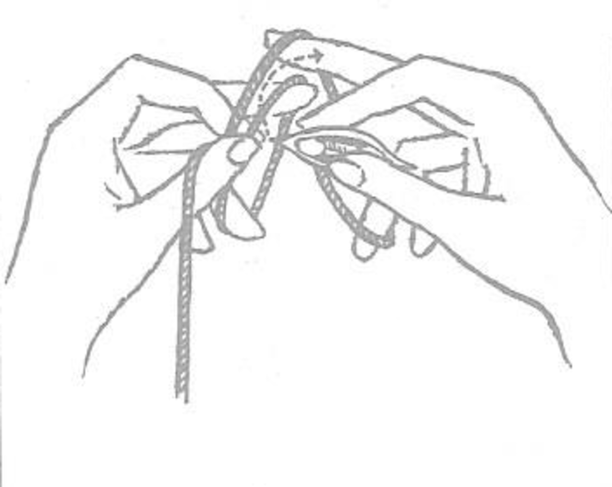 Figure 4 - First Stage of Double Stitch