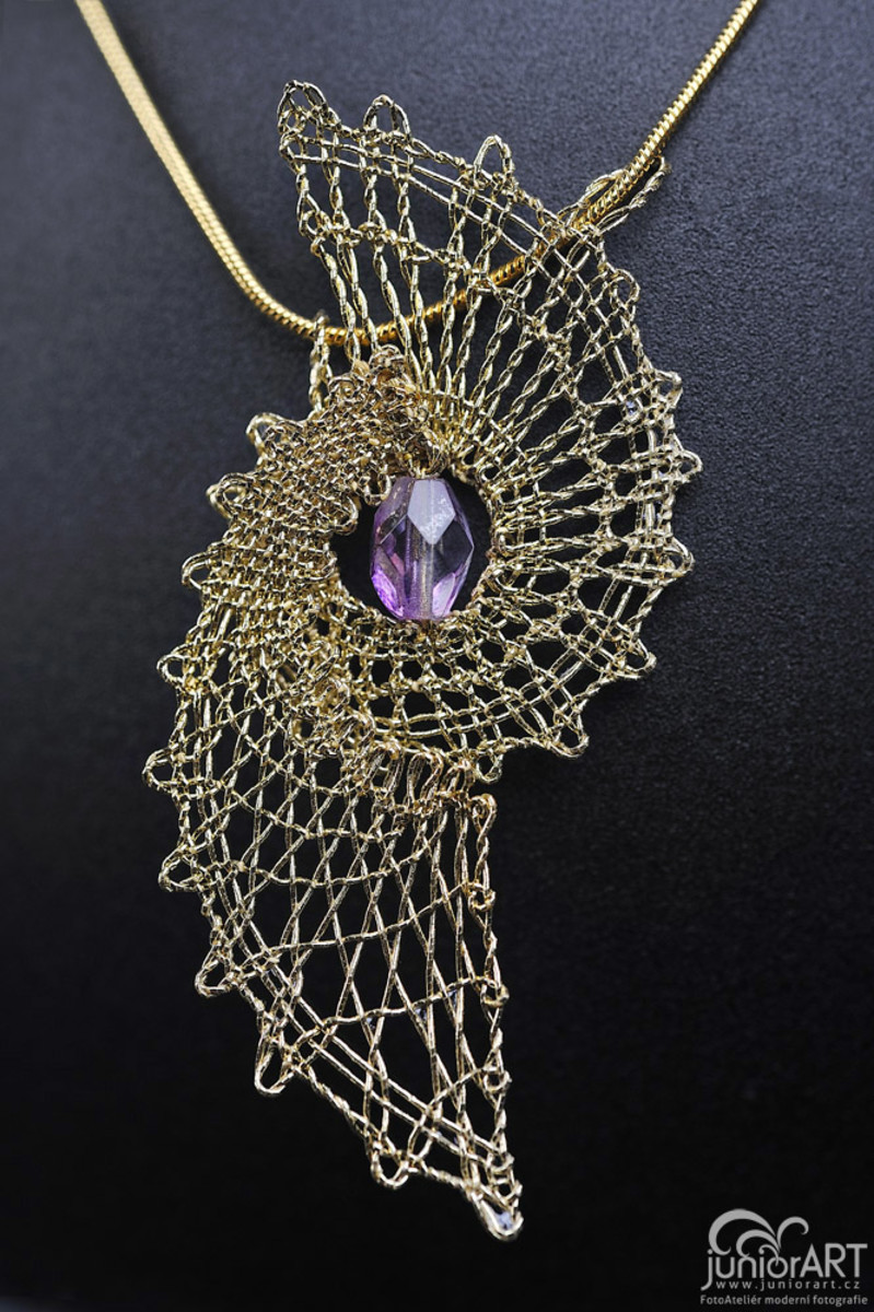 Beautiful Bobbin Lace Pendant